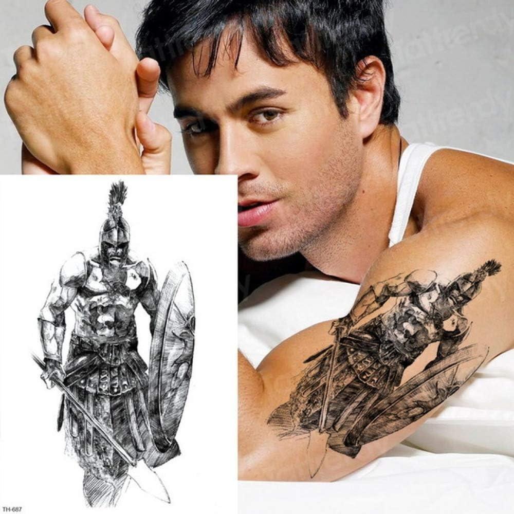 Handaxian 3pcs Autocollant Temporaire Tatouage Samourai Tatouage Homme Bras Croquis Conception De Tatouage Tatouage Mythologie Grecque 3pcs 22 Amazon Fr Cuisine Maison