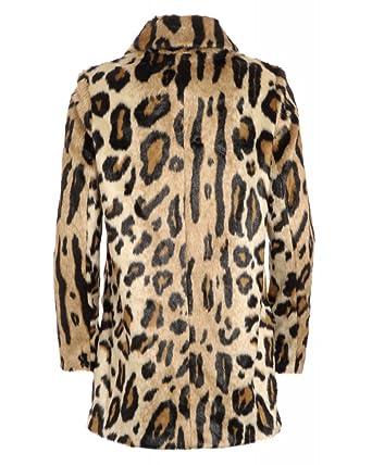 Finta Abbigliamento it Pelliccia Amazon In Leopardato Jeans Armani w1qg6t44