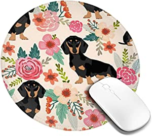 Mouse Pad Round Mousepad Customized Gaming Mousepads for Laptop and Computer Cute Funny Dog