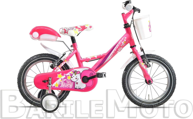 Bicicleta Montana Fluffy MTB 12 Bimba/Niña Fuxia + ruedas + Baúl ...