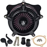 Motorcycle Air Cleaner Turbine Air Filter System For Touring Electra Glide Softail Dyna CVO FLST FXDLS