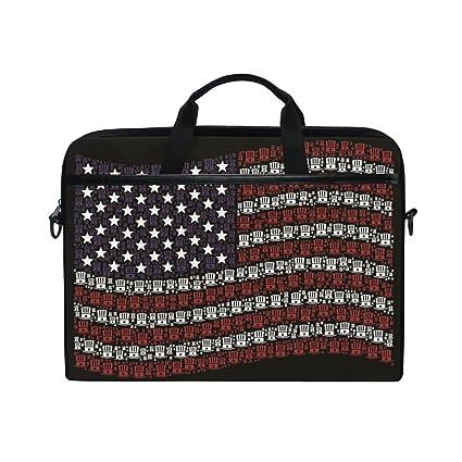 Amazon.com  15-Inch Laptop Bag American Flag Uncle Sam Hat Canvas ... 7e074a363