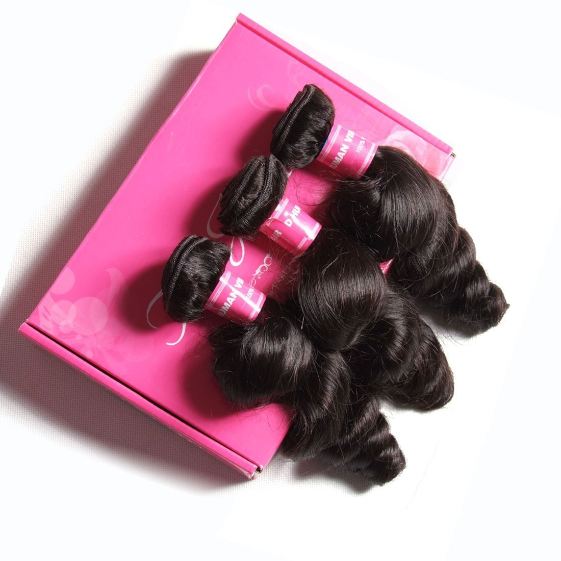 ALI JULIA 8A Brazilian Loose Wave Hair Weave 4 Bundles 100% Unprocessed Virgin Human Hair Weft Extensions 95-100g/pc Natural Color (4PC20 22 24 26) by Yilian (Image #7)