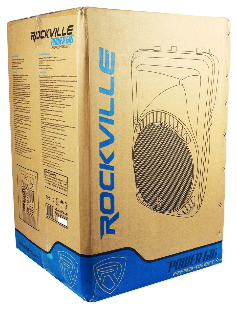 Rockville 15'' Powered 1000W DJ PA Speaker BlueTooth, USB, SD, EQ, Remote (RPG15BT) by Rockville (Image #7)