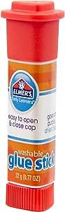Elmer's Early Learners Washable Glue Sticks, 22 grams, Disappearing Purple Glue, Box of 6 Glue Sticks, E4051