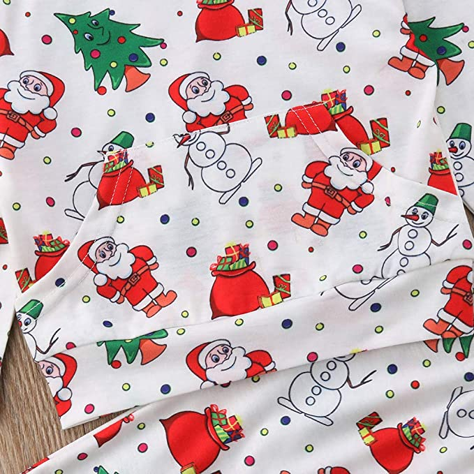 fce1d25b6b Amazon.com: LIKESIDE Toddler Kid Baby Girl Long Sleeve Santa Claus Print  Tops+Pants Outfits: Clothing