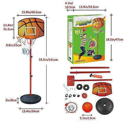 Amazon.com: nadalan infantil baloncesto soporte ajustable ...