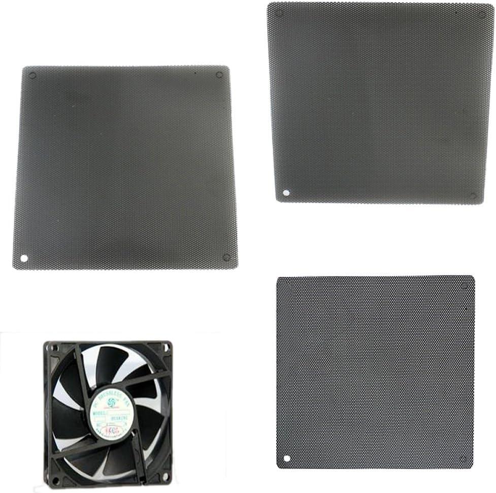 shuoyiersty Cuttable Computer PC Dustproof Cooler Fan Case Cover Dust Dirt Filter Mesh Black 140x140mm//5.51x5.51