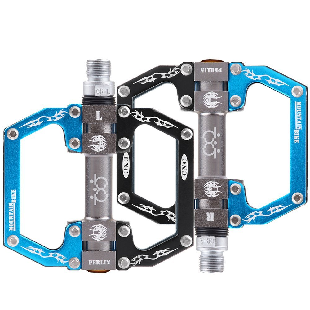 SportingBodybuilding MTB Bike Pedals Bearing Bicycle Pedals 9//16 Alloy Platform Pedals for Road Bike BMX