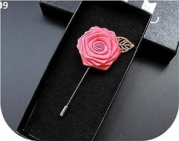 Amazon Com Wedding Corsage Handmade Brooch Stain Rose Groom