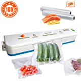Vacuum Sealer Machine,JETITI Vacuum Sealing System for Food Storage Plus 20 FREE Sealable Bags.Blue