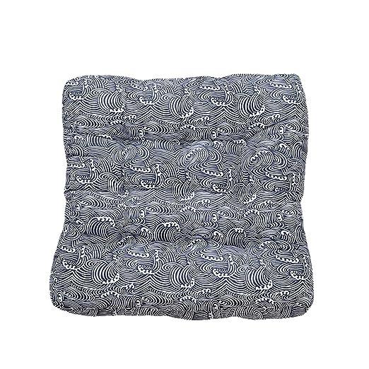 Cojines de asiento Cojín Azul PP algodón Espesar hogar ...
