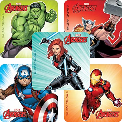 Favours Birthday Avengers Marvel Comics Classic Captain America Stickers x 5