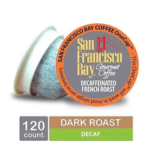 San-Francisco-Bay-OneCup,-DECAF-French-Roast,-Single-Serve-Coffee-K-Cup-Pods