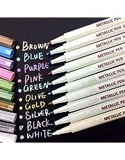 Beupro 800-001, Marqueur Métallique Pens 10 Couleurs,Multicolore