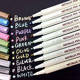 Oddis Marqueur Métallique Pens 10 Couleurs, 800-001, Multicolore