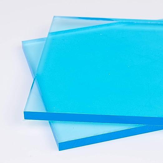 F/ür Innen und Au/ßen UV-Stabil Kanten unbearbeitet Zuschnitte |St/ärke 2 mm PMMA | DOLLE Acrylglas XT Glasklare Platte in 500 x 500 mm