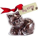 """Kitten - """"My Kitty!"""" Chocolate kitten. From the Belgian Milk Chocolate 'Button-its' Gifts range."""