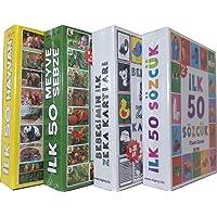 Bebeğimin İlk Zeka Kartları 4 Lü Set İlk 50 Sözcük İlk Zeka Kartları İlk 50 Hayvan İlk 50 Meyveler