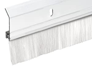 "Frost King SB36W 2"" x 36"" Extra Aluminum/Brush Door Sweep, White"