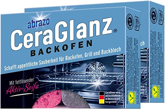 Abrazo Ceraglanz Oven 2 X 2 Pieces Antibacterial Saponified Cleaning Sponge Grill Cleaner Oven Cleaner For Kitchen Amazon De Drogerie Körperpflege