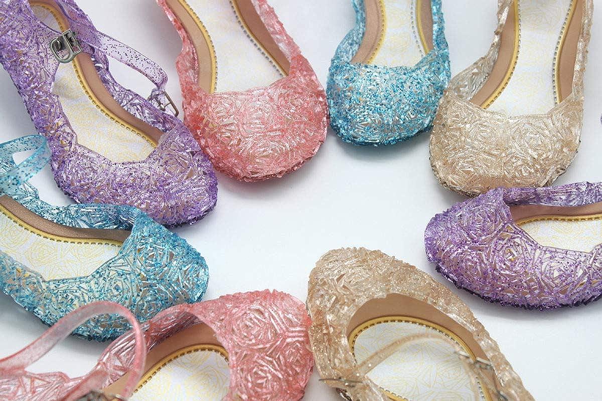 , Little-Peach L-Peach Principessa Scarpe di Cristallo per Ragazze Festa di Compleanno Halloween