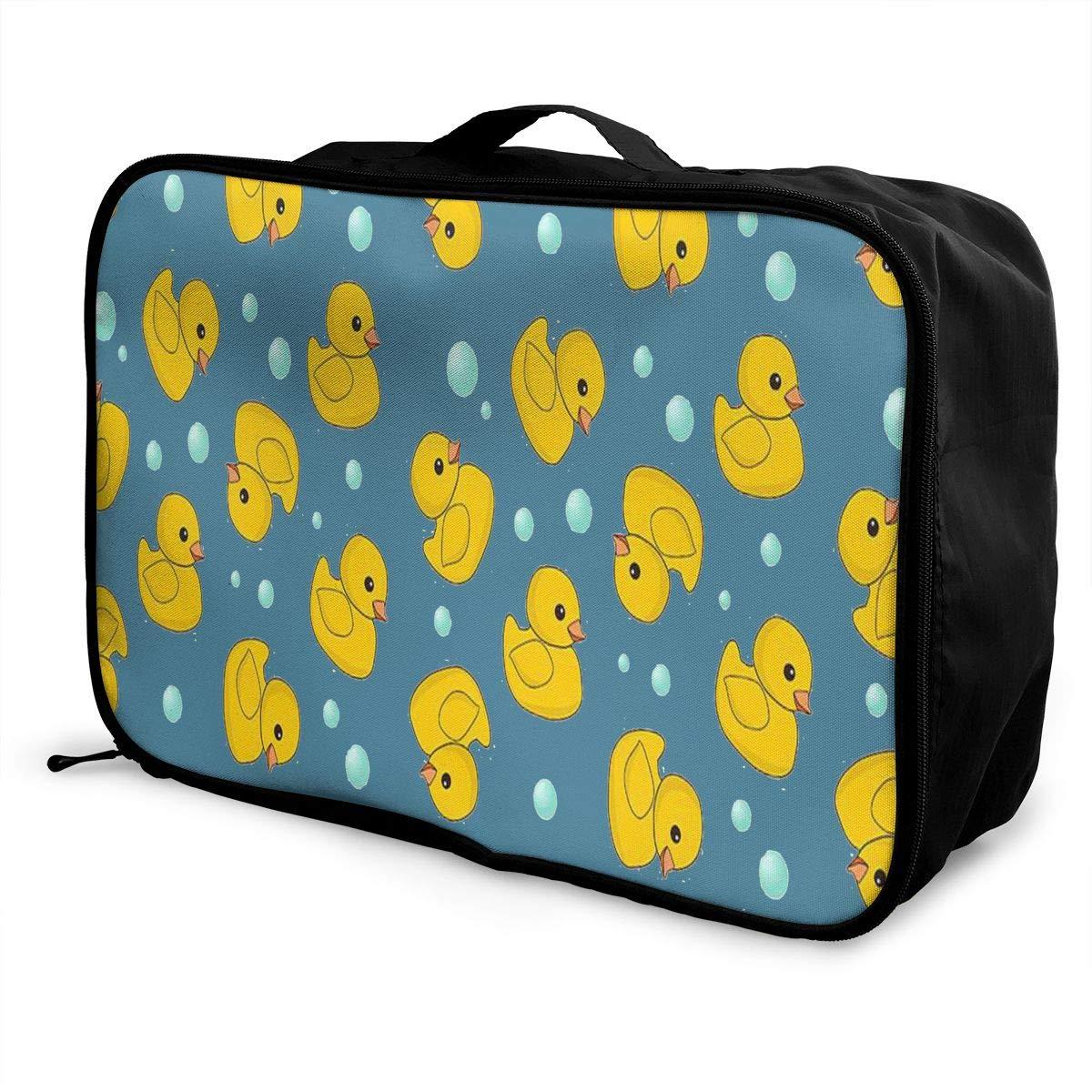 Lightweight Large Capacity Duffel Portable Luggage Bag Fun Ducks Travel Waterproof Foldable Storage Carry Tote Bag