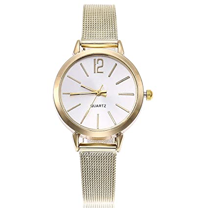 Gold Sliver Mesh Stainless Steel Watches Simple Female Slim Quartz Wrist Watch Casual Women Watch Reloj
