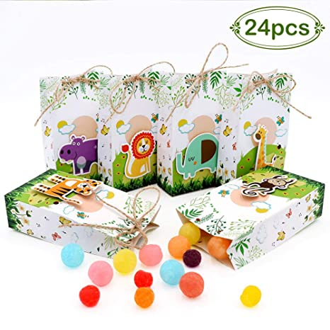 Amazon.com: aerwo 24pcs actualizado Jungle Safari Zoo Animal ...