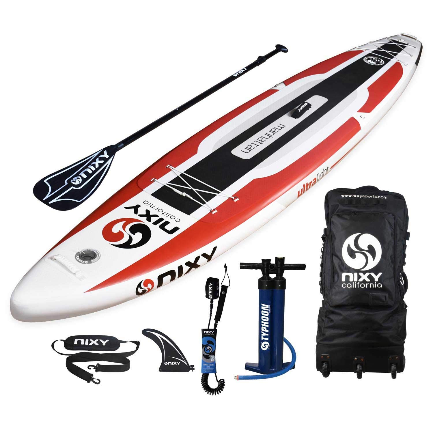 NIXY Touring Hinchable Stand Up Paddle Board Paquete. Ultra luz 12 ...