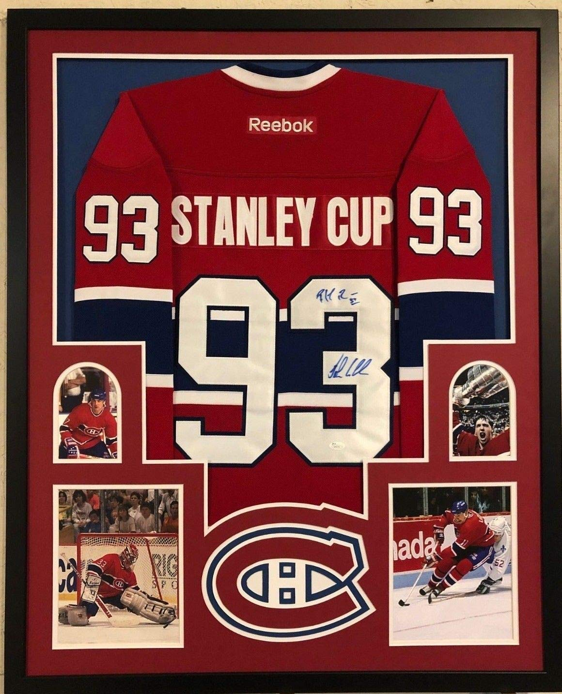 best website c3a2e d3815 FRAMED MONTREAL CANADIENS PATRICK ROY & JOHN LECLAIR SIGNED ...