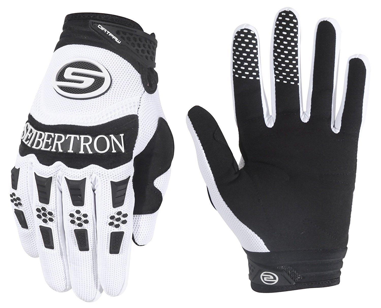 Seibertron Dirtpaw Men's BMX MX ATV Racing Gloves Bicycle MTB Racing Off-road/Dirt bike Sports Gloves (white, S) Ltd.