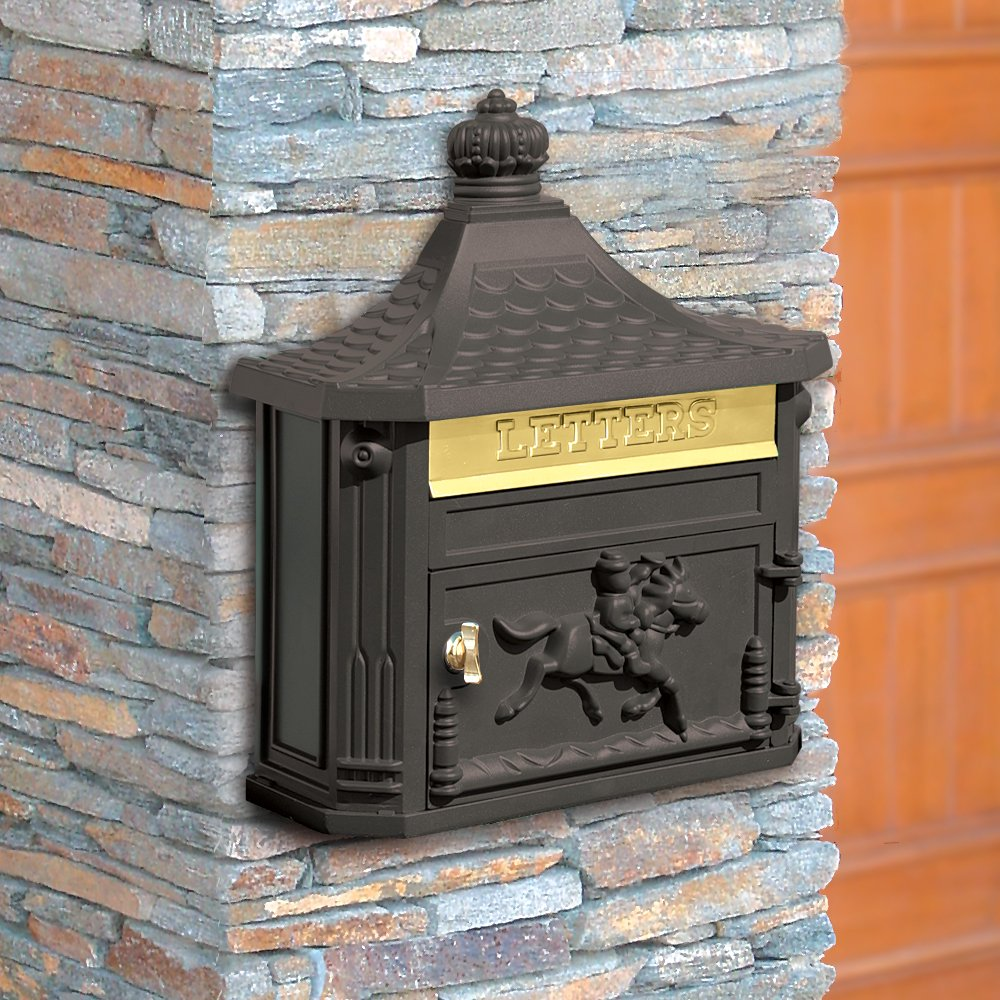 Salsbury Industries 4460BLK Victorian Surface Mounted Mailbox, Black