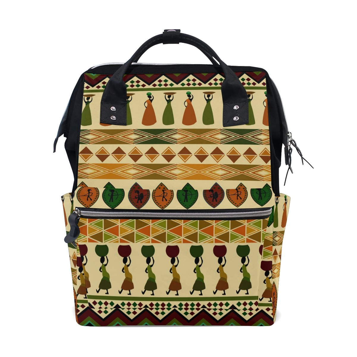 Diaper Bags Backpack Purse Mummy Backpack Fashion Mummy Maternity Nappy Bag Cool Cute Travel Backpack Laptop Backpack with African Style Fashion Illustration Daypack for Women Girls Kids
