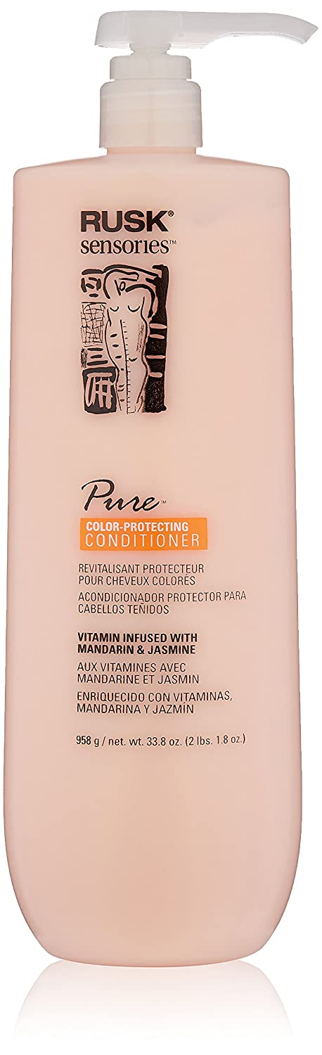 Amazon.com: RUSK Sensories Pure Mandarin and Jasmine Vibrant Color Conditioner , 33.8 fl. Oz.: Rusk: Luxury Beauty