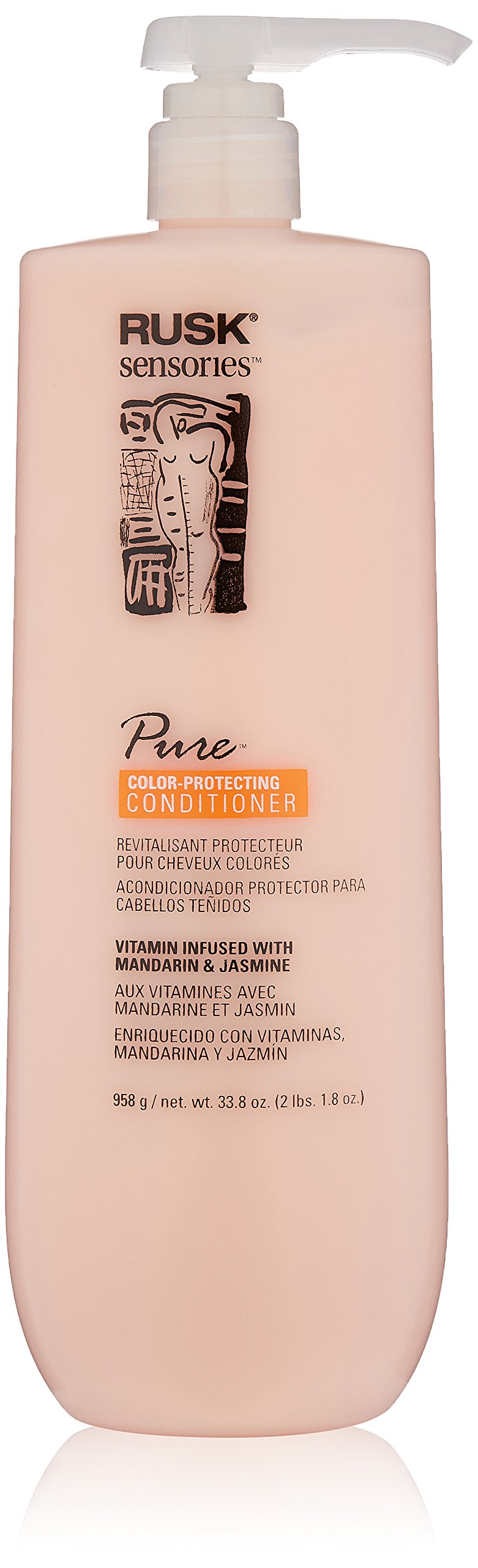 RUSK Sensories Pure Mandarin and Jasmine Vibrant Color Conditioner , 33.8 fl. Oz.