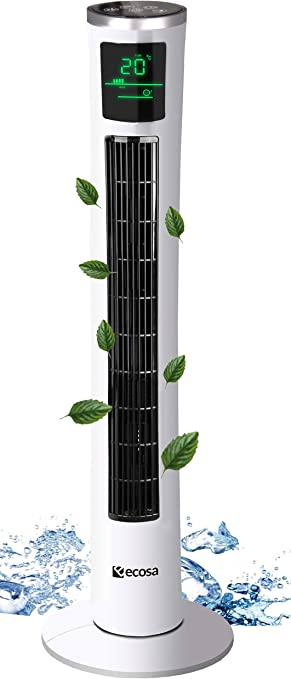 45 Watt 120 cm Säulenventilator mit Fernbedienung Turmventilator Towerventilator