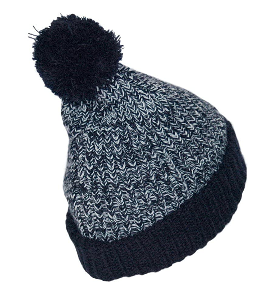 Navy Bad Boy Winter Fleece Bobble Beanie Hat