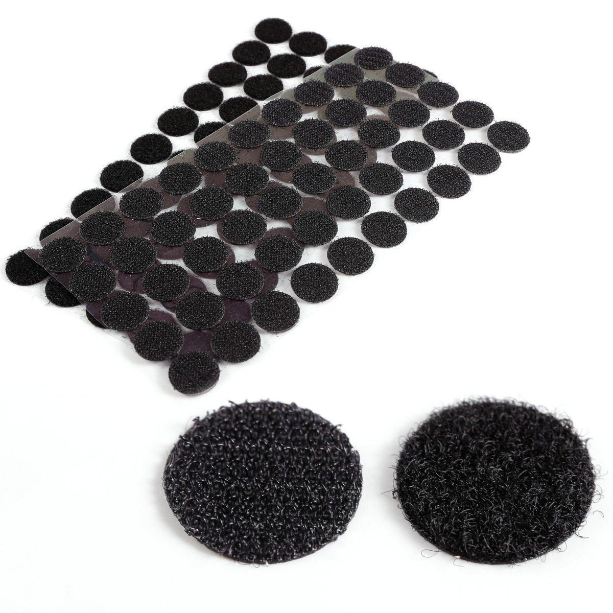 CLE DE TOUS - Puntos Adhesivos para pegar coser Tejidos Cortinas Manteles Cierres Bolso guantes Cremalleras Botones Manualidades (Blanco 250 pares) Anladia