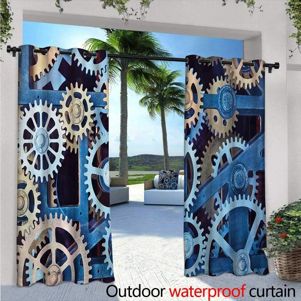 Cortina de ventana para interior/exterior, diseño de un solo panel ...
