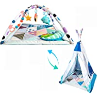 Fun N Well My Journey Baby Play Gym | Transform from Baby Gym to Teepee | Large Activity Play Mat for Infants & Toddlers…
