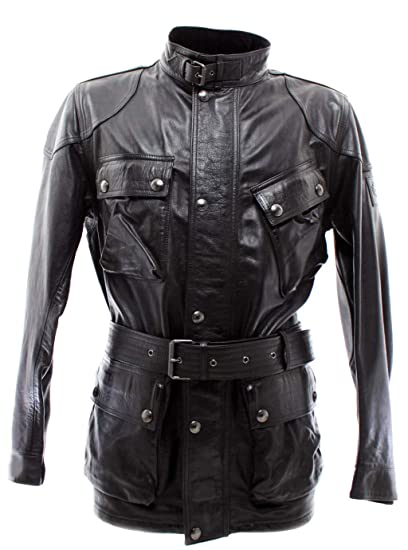 ff3bfec757 Belstaff Men's Jackets 71050068 Panther Black Leather Vintage Made in Italy  New: Amazon.co.uk: Clothing