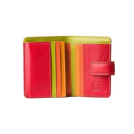 7f843ce3f8 Portafoglio donna piccolo di pelle colorata porta carte DUDU Rosso ...