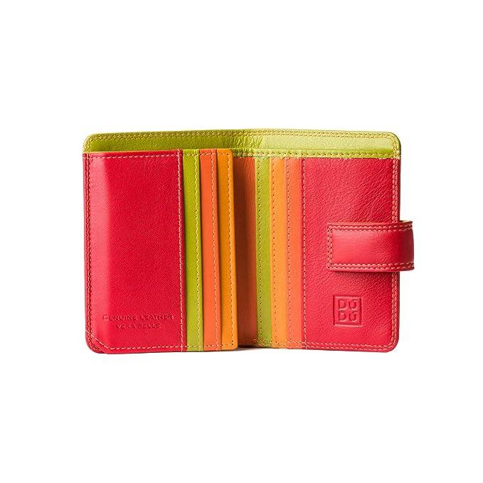 Cartera Mujer pequeña de Piel colorada Porta Tarjetas DUDU Rojo