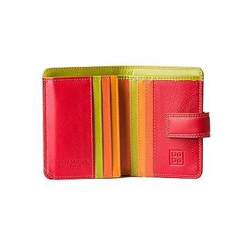 Cartera Mujer pequeña de Piel colorada Porta Tarjetas DUDU Rojo: Amazon.es: Equipaje