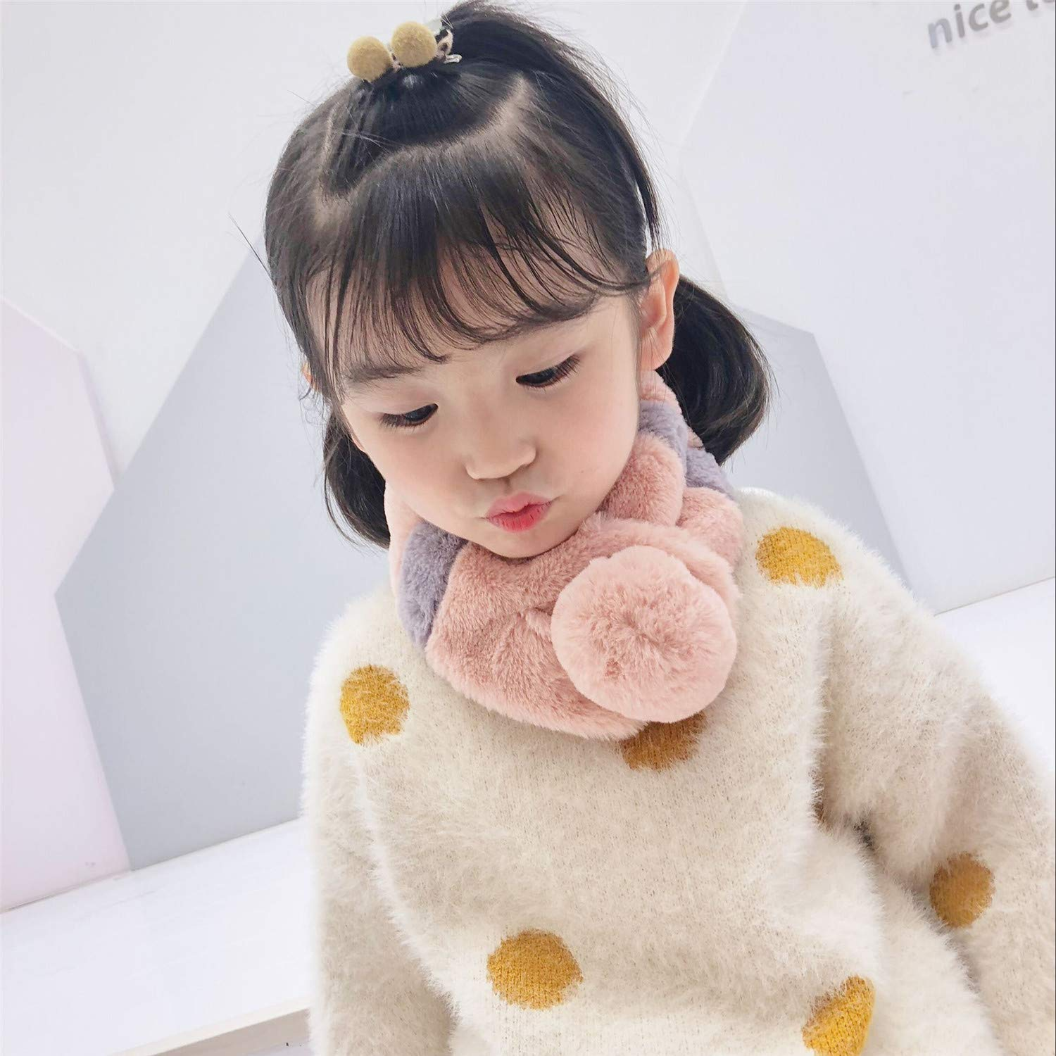 GUAHUAXIANG Baby Girls Imitation Bunny Furs Collar Scarf Neck Warm Scarves
