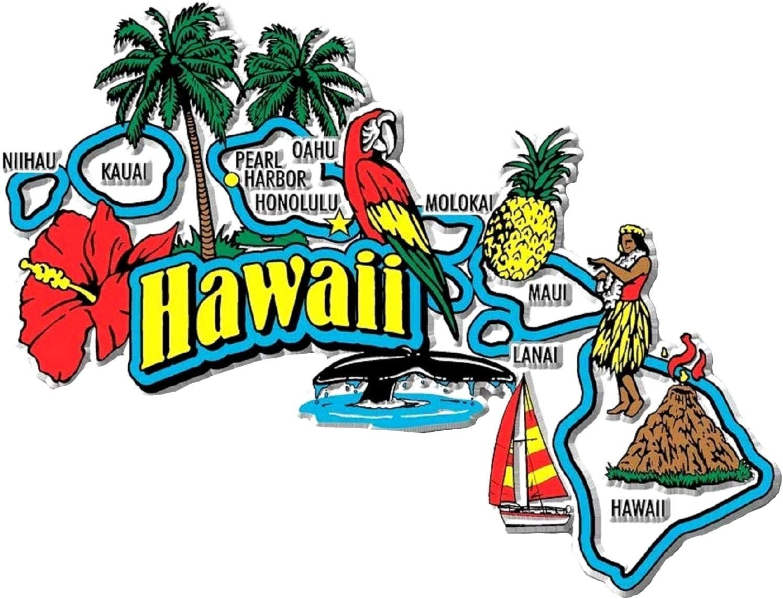 Hawaii Jumbo State Map Fridge Magnet