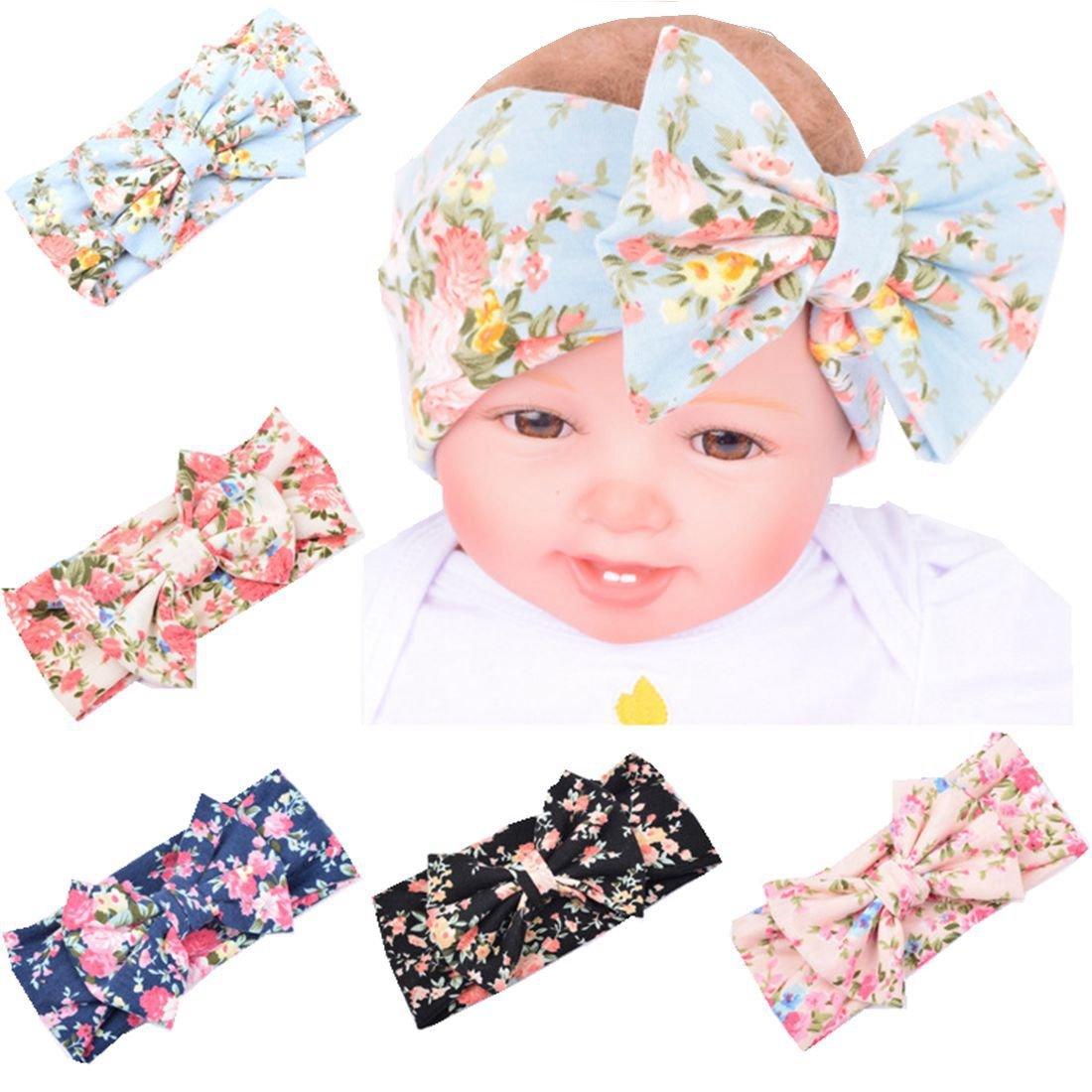 Baby Girl Headband with Big Bowknot Soft Girls' Head Wrap Turban Baby Headband Yzjcafriz