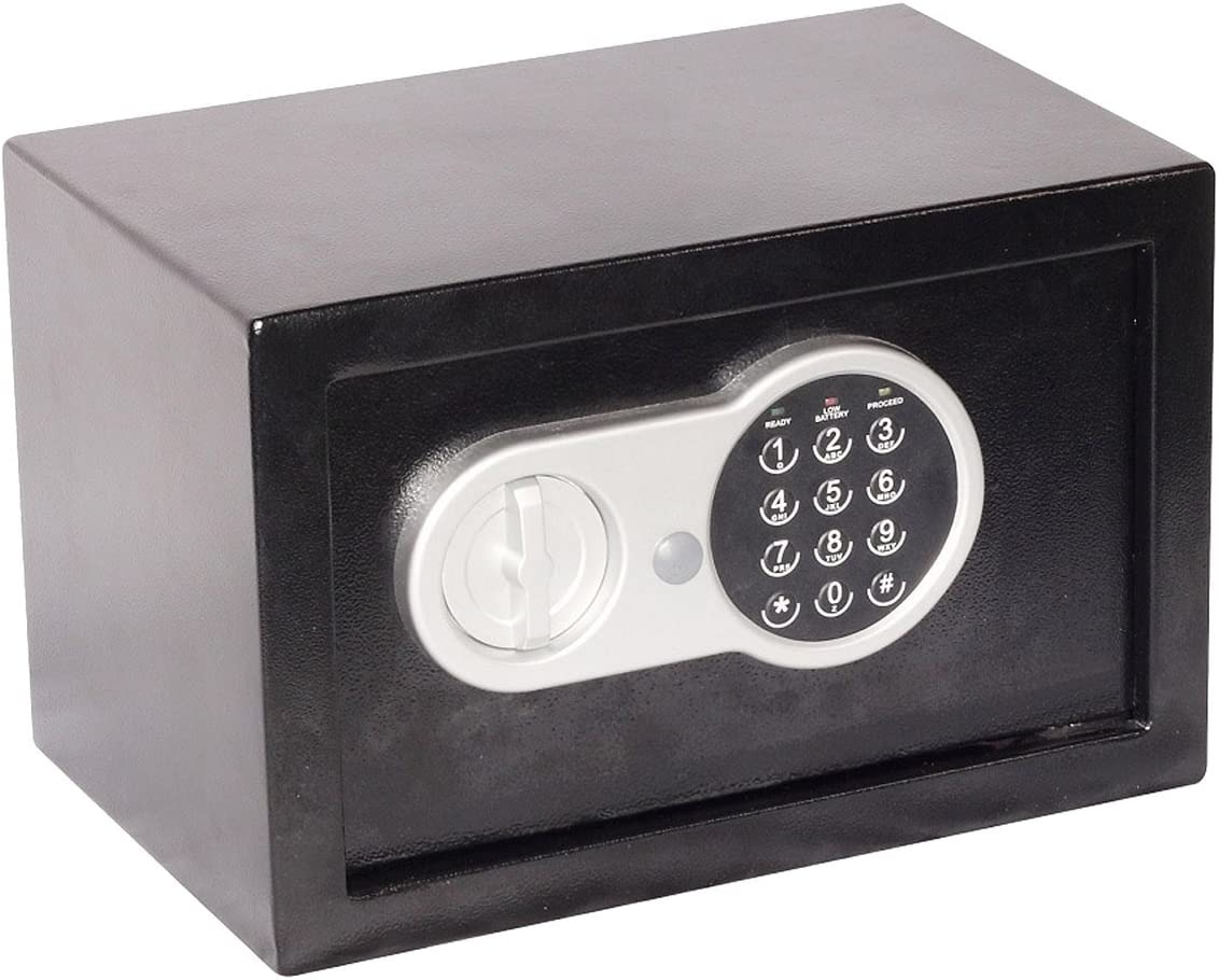 Lifebox ACCESS10D 10L Acero Negro - Caja fuerte (Electrónico, Llave, 10 L, 8,33 L, Acero, Negro, Suelo/pared): Amazon.es: Bricolaje y herramientas