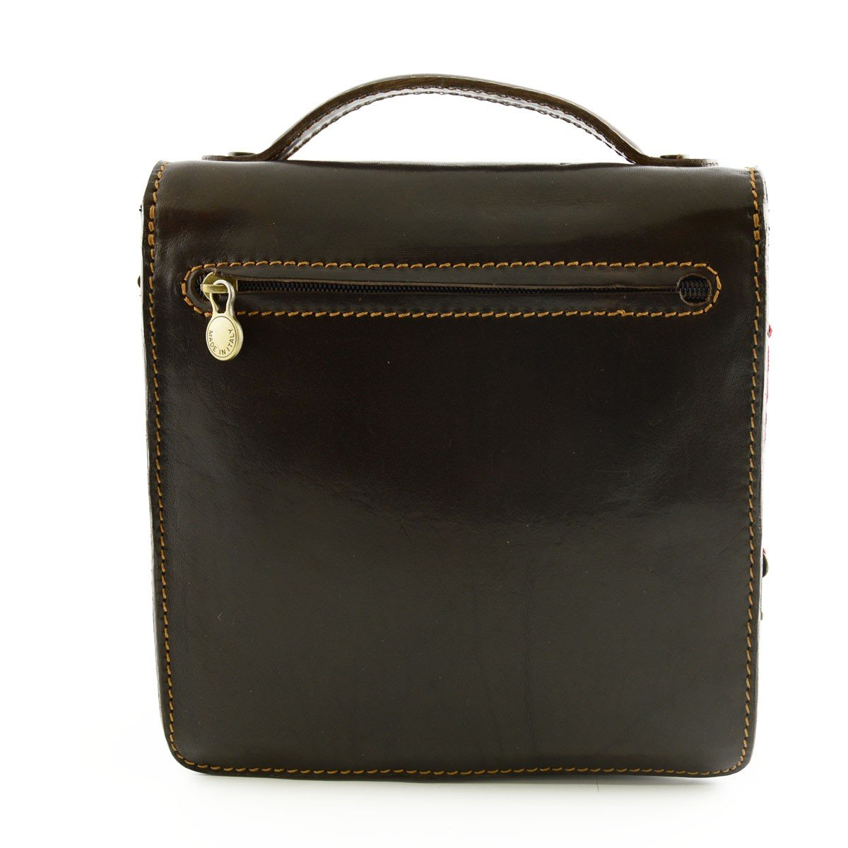 Man Leather Bag Color Dark Brown